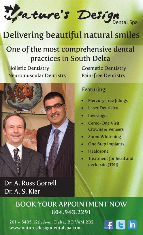 Nature's Design Dental Spa (604-943-2291) - Annonce illustrée======= -