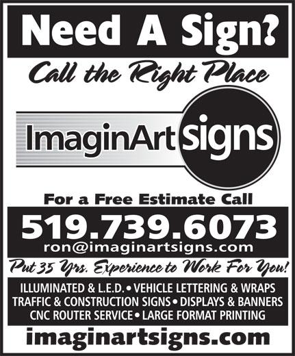 Imaginart Signs (519-739-6073) - Annonce illustrée======= -
