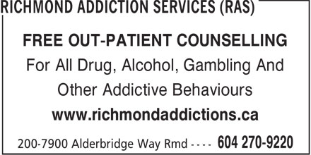 Richmond Addiction Services Society (RASS) (604-270-9220) - Display Ad -