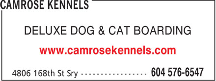 Camrose Kennels (604-576-6547) - Display Ad - DELUXE DOG & CAT BOARDING www.camrosekennels.com  DELUXE DOG & CAT BOARDING www.camrosekennels.com  DELUXE DOG & CAT BOARDING www.camrosekennels.com  DELUXE DOG & CAT BOARDING www.camrosekennels.com  DELUXE DOG & CAT BOARDING www.camrosekennels.com  DELUXE DOG & CAT BOARDING www.camrosekennels.com  DELUXE DOG & CAT BOARDING www.camrosekennels.com  DELUXE DOG & CAT BOARDING www.camrosekennels.com