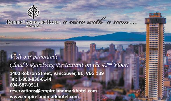 Empire Landmark Hotel & Conference Centre (604-687-0511) - Annonce illustrée======= -