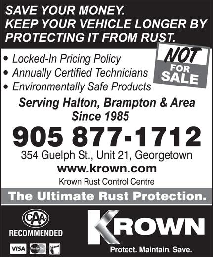 Ads Krown Rust Control Centre