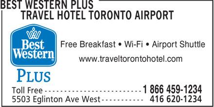 Best Western Plus (1-877-772-3297) - Display Ad - Free Breakfast ¿ Wi-Fi ¿ Airport Shuttle www.traveltorontohotel.com