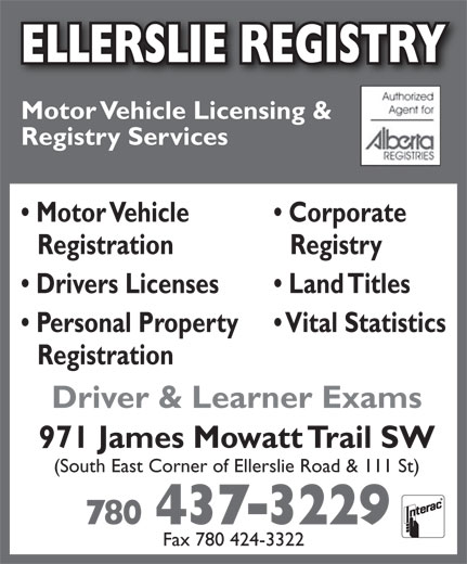 Ads Ellerslie Registry