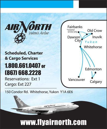 Air North/Yukon's Airline (1-800-661-0407) - Display Ad -