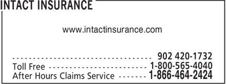 Intact Insurance (902-420-1732) - Annonce illustrée======= - www.intactinsurance.com www.intactinsurance.com