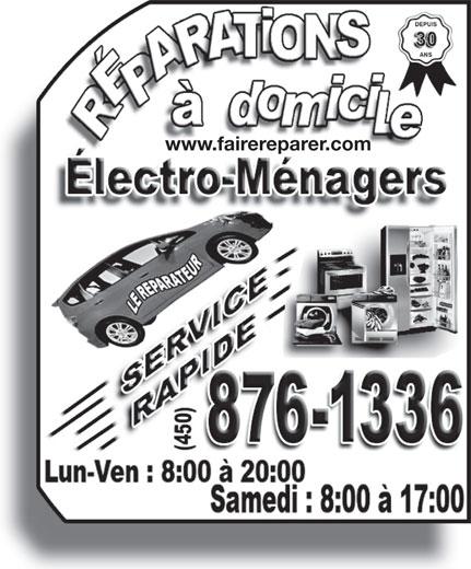 Le Réparateur (450-442-1001) - Display Ad - www.fairereparer.com www.fairereparer.com