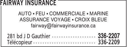 Fairway Insurance (506-336-2207) - Display Ad -