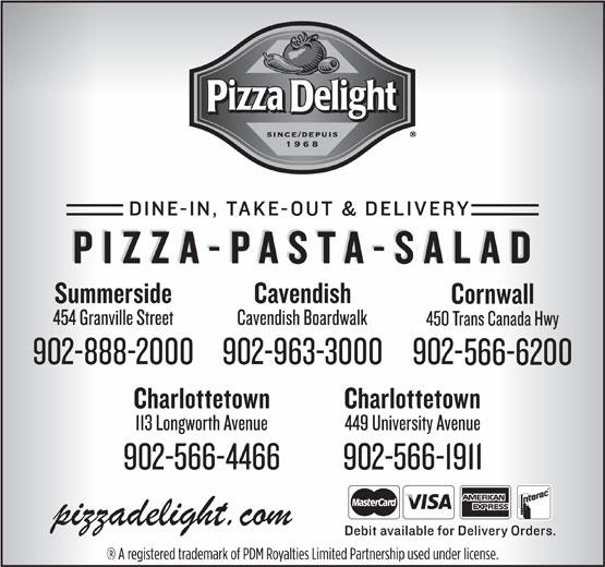 Pizza Delight (902-566-1911) - Annonce illustrée======= -