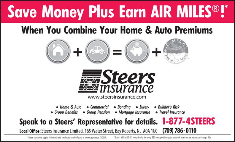 Steers Insurance Limited (709-786-0110) - Annonce illustrée======= -