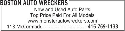 Ads Boston Auto Wreckers