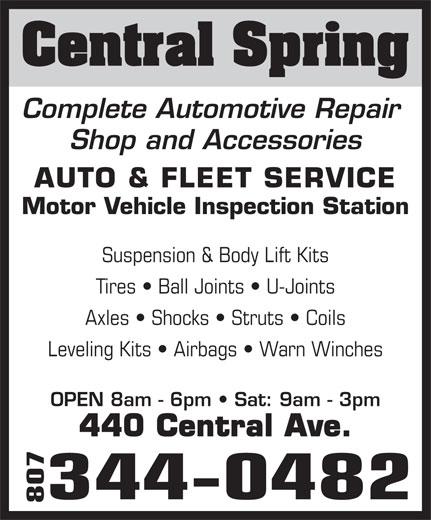 Central Spring Auto Fleet Service 440 Central Ave Thunder Bay On