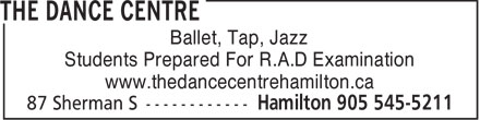 The Dance Centre (905-545-5211) - Display Ad -
