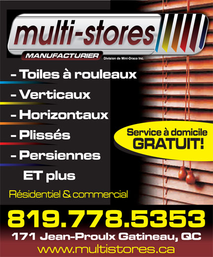 Multi-Stores (819-778-5353) - Display Ad -