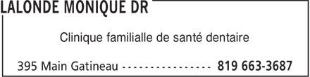 Clinique Familiale de Santé Dentaire (819-663-3687) - Annonce illustrée======= - Clinique familialle de santé dentaire