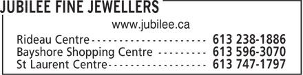 Jubilee Fine Jewellers (613-238-1886) - Display Ad - www.jubilee.ca