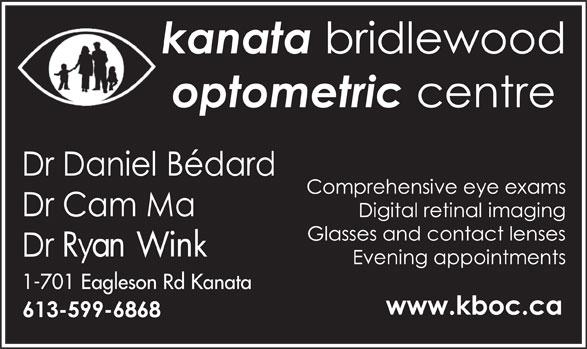 Kanata Bridlewood Optometric Centre (613-599-6868) - Annonce illustrée======= -