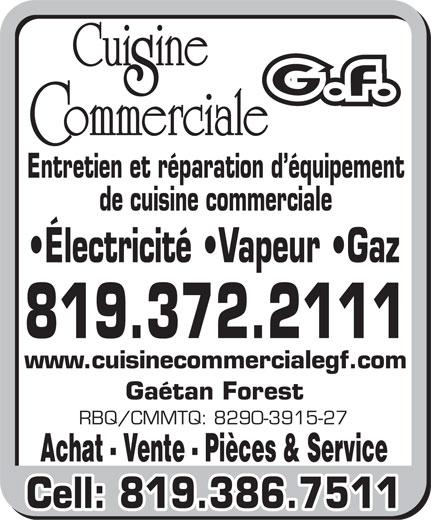 Cuisine commerciale g f 3275 rue ubald laforest trois for Equipement de cuisine commerciale