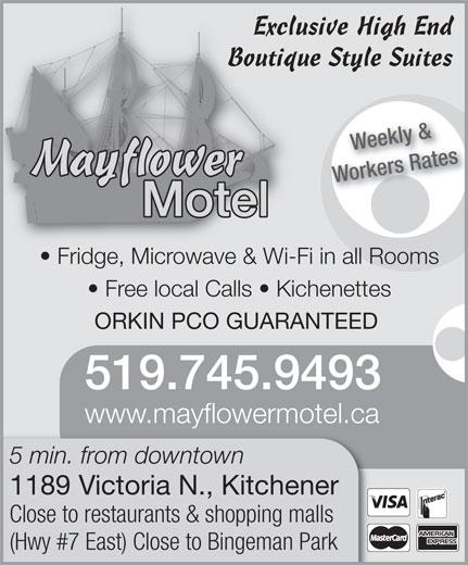 Mayflower Motel (519-745-9493) - Annonce illustrée======= -