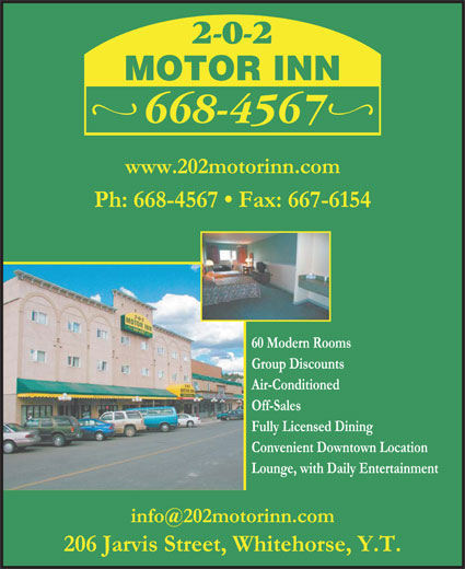 202 Motor Inn (867-668-4567) - Display Ad -