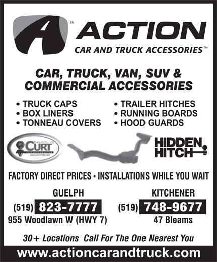 Action Car and Truck Accessories (519-823-7777) - Annonce illustrée======= -