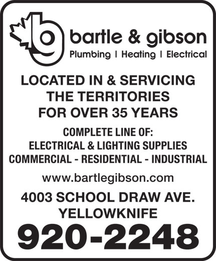 Bartle & Gibson Co Ltd (867-920-2248) - Annonce illustrée======= -
