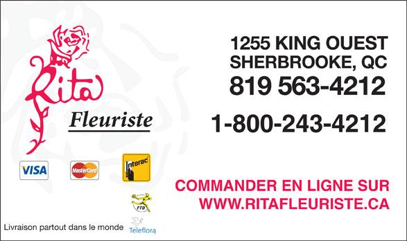 Rita Fleuriste Inc (819-563-4212) - Annonce illustrée======= - Livraison partout dans le monde