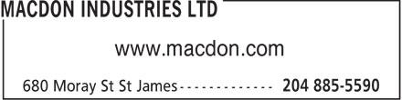 Macdon Industries Ltd (204-885-5590) - Annonce illustrée======= - www.macdon.com
