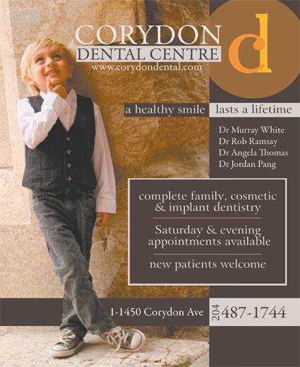 Corydon Dental Centre (204-487-1744) - Display Ad - 204