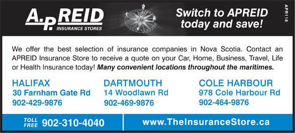 A.P. Reid Insurance Stores Ltd. (902-469-9876) - Annonce illustrée======= - 30 Farnham Gate Rd 902-464-9876 902-429-9876 902-469-9876 902-310-4040 30 Farnham Gate Rd 902-464-9876 902-429-9876 902-469-9876 902-310-4040