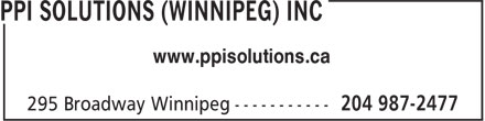 PPI Solutions (Winnipeg) Inc (204-987-2477) - Display Ad - www.ppisolutions.ca