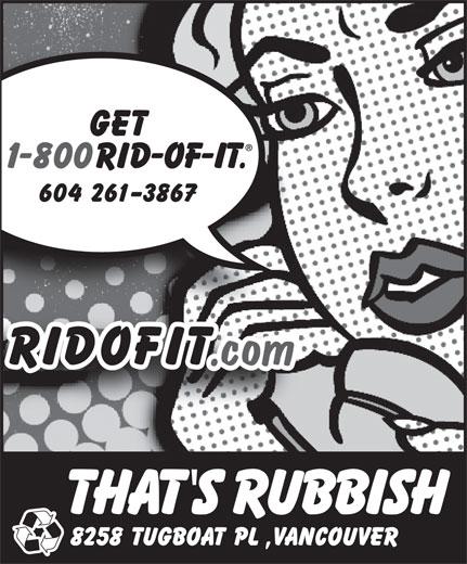 That's Rubbish (604-261-3867) - Display Ad -