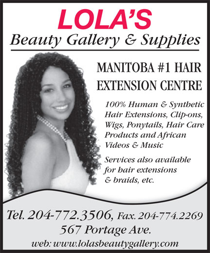 Lola's Beauty Gallery (204-772-3506) - Display Ad -