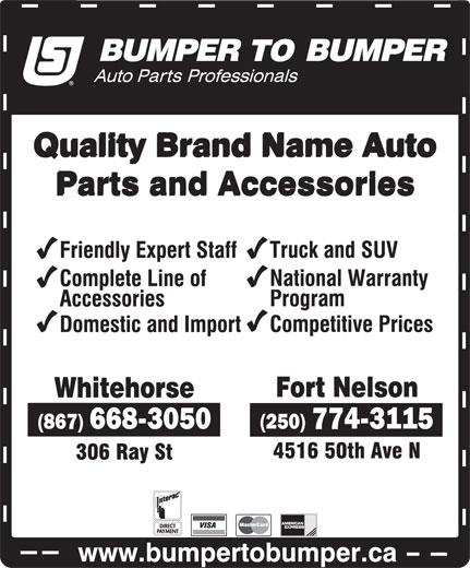 Bumper To Bumper (250-774-3115) - Display Ad -