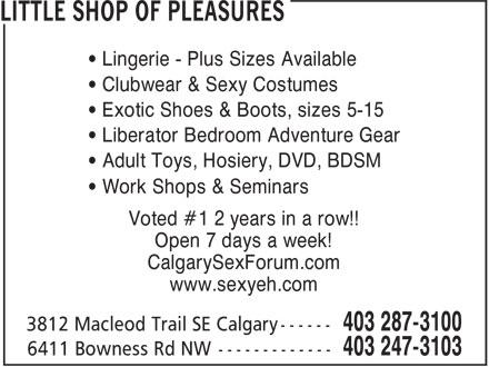 Ads Little Shop Of Pleasures