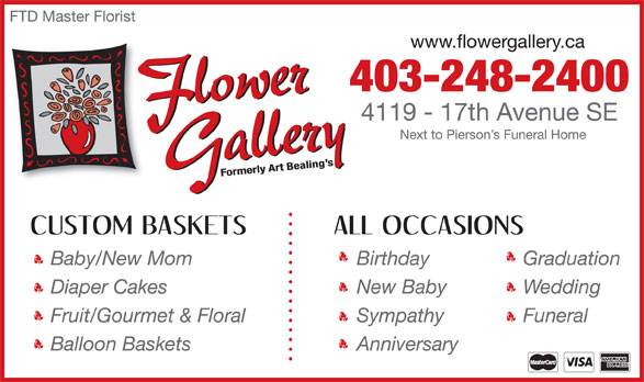 Flower Gallery (403-248-2400) - Display Ad -