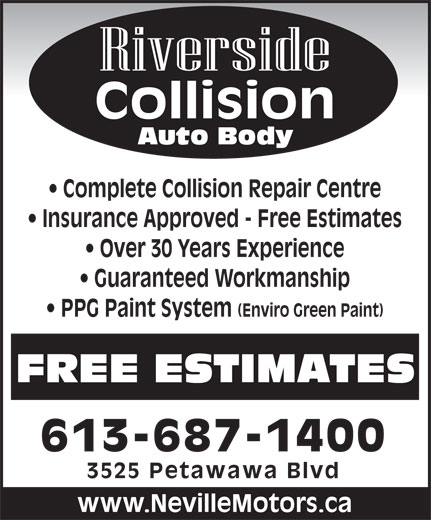 Auto Body Repair Cost Estimator: 3525 Petawawa Blvd, Petawawa, ON