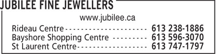 Jubilee Fine Jewellers (613-238-1886) - Annonce illustrée======= -