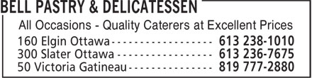 Bell Pastry & Delicatessen (613-238-1010) - Display Ad - All Occasions - Quality Caterers at Excellent Prices All Occasions - Quality Caterers at Excellent Prices