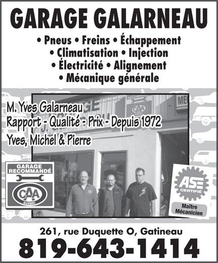 garage galarneau 261 rue duquette o gatineau qc