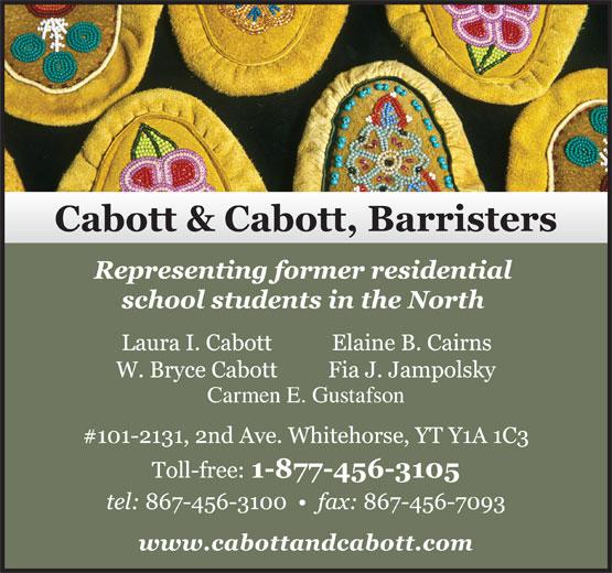 Cabott & Cabott Barristers (867-456-3100) - Display Ad -