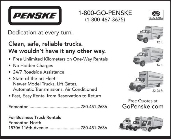 Penske Truck Rental (613-731-9998) - Annonce illustrée======= -