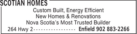 Home Hardware Building Centre (902-883-2266) - Display Ad - Custom Built, Energy Efficient New Homes & Renovations Nova Scotia's Most Trusted Builder
