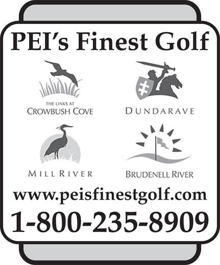 Links At Crowbush Cove Golf Course (1-800-235-8909) - Display Ad - www.peisfinestgolf.com 1-800-235-8909 PEI s Finest Golf