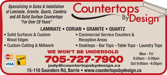 Ads Countertops By Design (Barrie) Inc