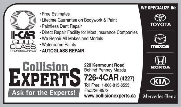 Collision Experts (709-726-4227) - Annonce illustrée======= -