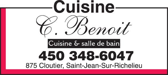 Cuisine c benoit d 875 rue cloutier saint jean sur for Armoire de cuisine st jean sur richelieu