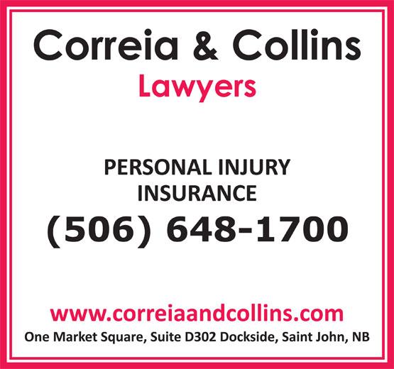 Correia & Collins (506-648-1700) - Annonce illustrée======= -