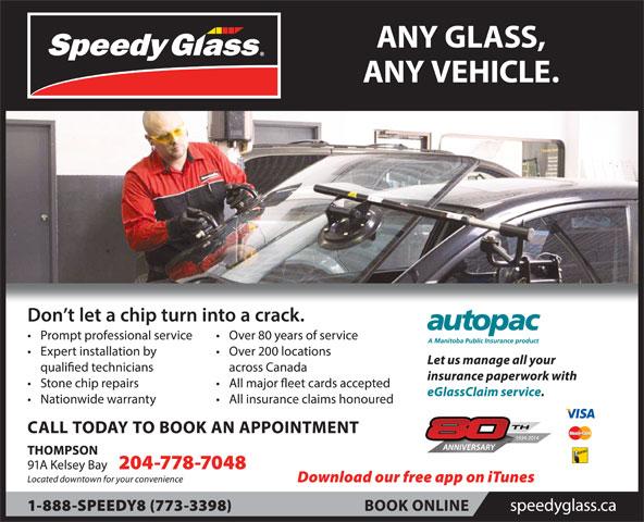 Speedy Glass (204-778-7048) - Display Ad -