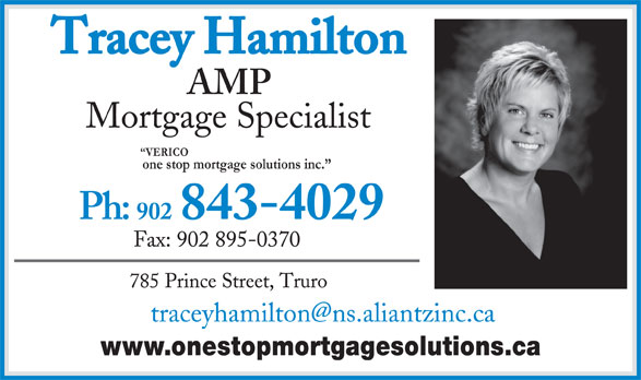 Tracey Hamilton (902-895-0716) - Annonce illustrée======= - www.onestopmortgagesolutions.ca VERICO one stop mortgage solutions inc.